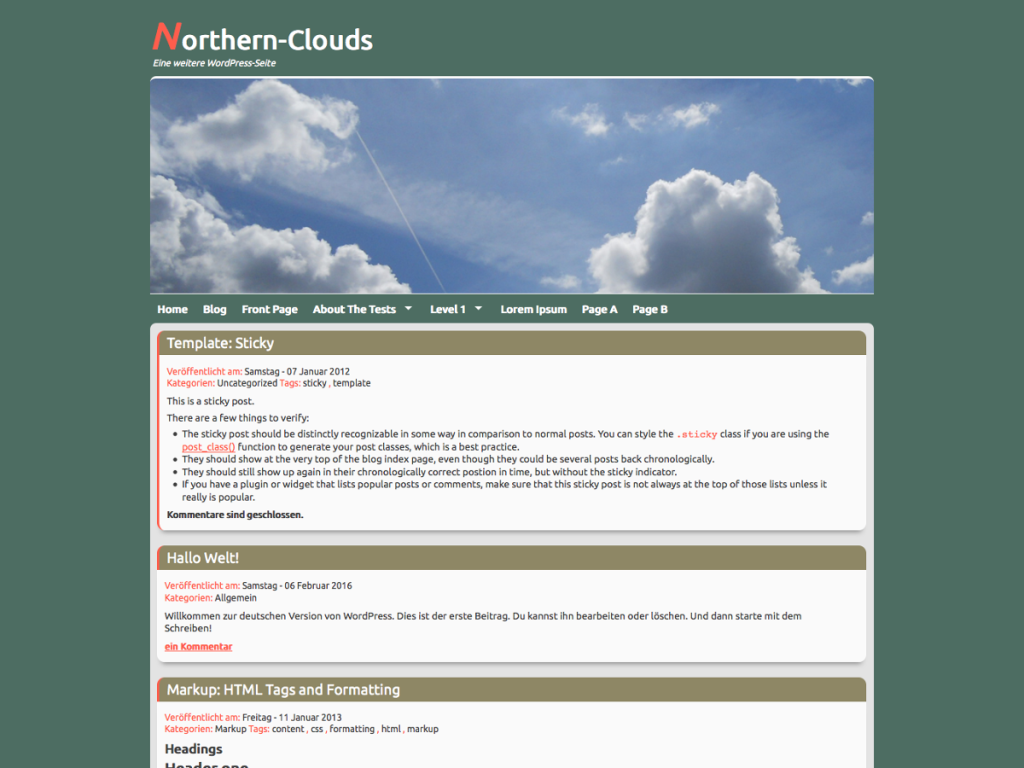 Northern-Clouds Theme